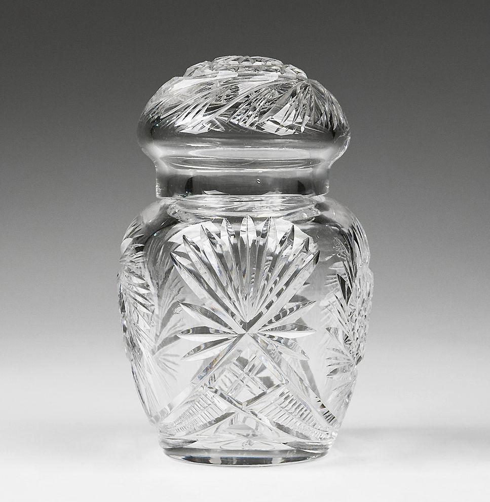 Brilliant Period Cut Glass Powder or Vanity Jar