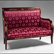 Early 19th Century Period French Empire Swan Neck Settee