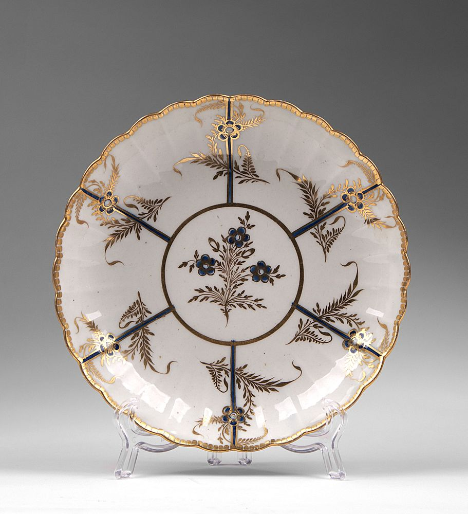 1790 Caughley Porcelain Plate