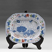 SALE Masons India Grasshopper Blue With Color Ironstone Platter