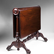 SALE American Empire Book Hinged Sutherland Table