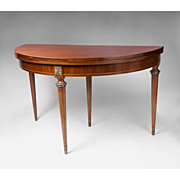 SALE Edwardian Satinwood Hinged Breakfast Table Or Dining Table