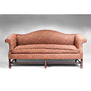 SOLD 19th Century Camel Back Georgian Mahogany Sofa in The Chippendale Manner