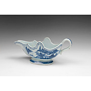 SALE Qianlong Period Chinese Export Blue And White Sauce Boat