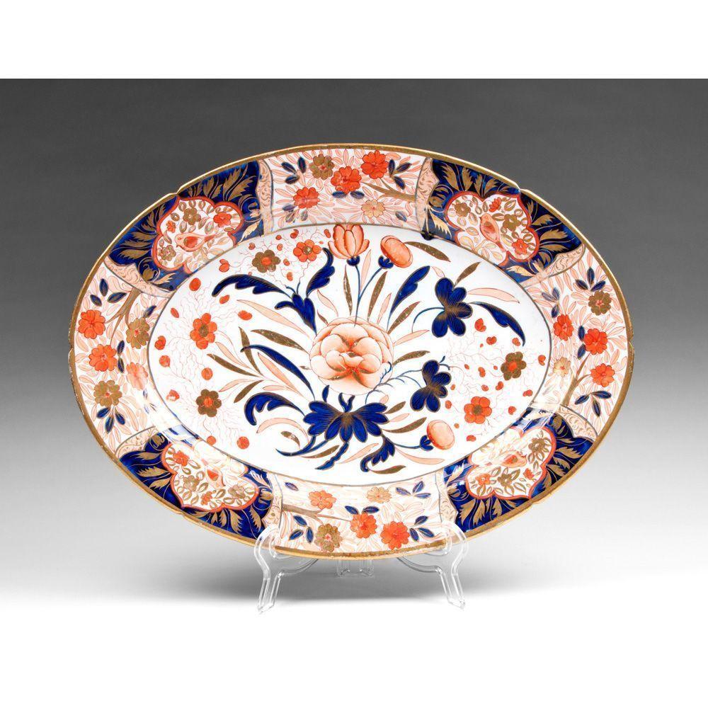 19th C. English Imari Ironstone Oval Platter