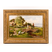 19th C. Pastoral Oil On Canvas By Henry John Yeend King