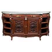 SOLD Late 19th C. Louis XV French Provincial Highly Carved Sideboard Buffet
