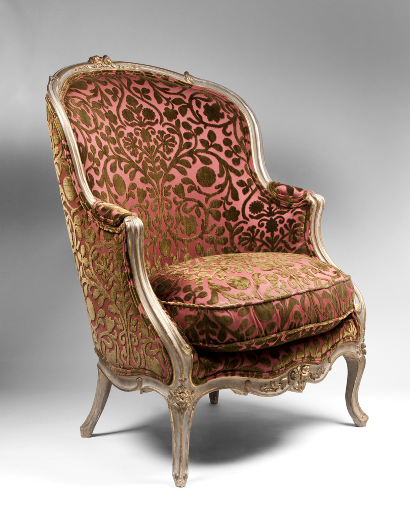 Early 19th C Painted Beechwood Louis Xv Bergere Chairs