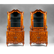 Pair of 19th Century Northern Italian Corner Cabinets