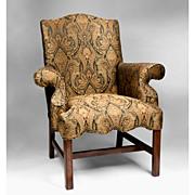 SALE Vintage Mahogany Georgian Style Library Chair