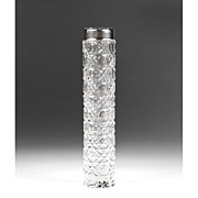 SALE Early 20th C. Whiting Sterling & Cut Glass Scent Bottle