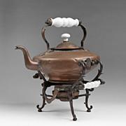 SOLD Vintage Tilting Tea Kettle On Stand