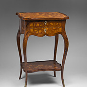 19th C. French Louis XV Style Inlaid Side Table