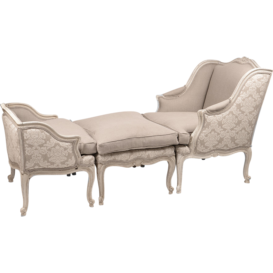 french regence style belle epoque duchesse brisee or chaise. Black Bedroom Furniture Sets. Home Design Ideas