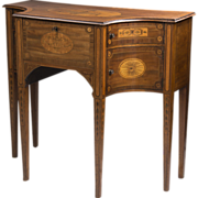 SALE George III Inlaid Sheraton Lowboy or Dressing Table