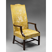 SALE Late 19th C. Federal Style Mahogany Lolling Chair