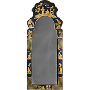 SALE Friedman Brothers Dutch Queen Anne Style Chinoiserie Mirror