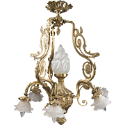 Vintage French Style Bronze And Ormolu Chandelier