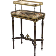SALE French Napoleon III Two Tier Pastry or Dessert Table