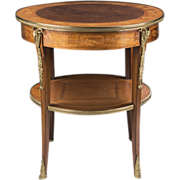 SALE French Régence Style Early 20th Century Inlaid Side Table