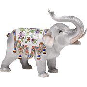 Carl Thieme Dresden Porcelain Elephant