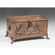 A 19th C. Anglo-Russian Copper Repoussé Humidor