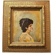 SALE 19th Century English Oil On Canvas Of Young Female Creole