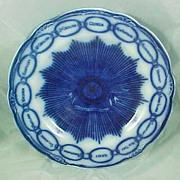 REDUCED Martha Washington Chain of States Flow Blue Plate McIntosh Portsmouth NH