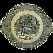 Royal Currier + Ives Blue Tab Handled Underplate Underliner Oaken Bucket MT