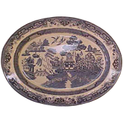 Heritage Mint Blue Willow Large Oval Platter
