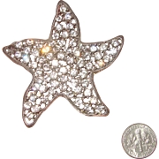 SALE Wondrous WEISS Star or Starfish Brooch: Big!