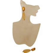 Glass-Like ANNE KLEIN  Golden Drop Earrings