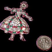 SALE Glimmering Russian-Style Ballerina Brooch
