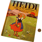 "Wonder Book 1950 Edition ""Heidi Child of the Mountains"" by Johanna Spyri"