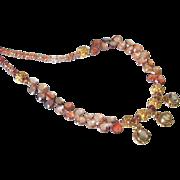 Smoky Quartz & Brown Zircon 24k Gold Vermeil Necklace by Pilula Jula 'Brown Sugar Boogie'