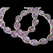 SALE Gem Amethyst Hoop Earrings by Pilula Jula 'Ambitious'