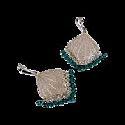 Emerald Green Swarovski Crystal Chandelier Earrings by Pilula Jula 'Holiday'