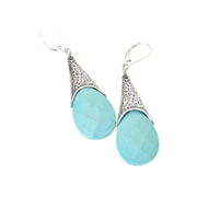 Aqua Turquoise Signature Earrings by Pilula Jula 'Five Seconds'