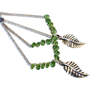 Green Tourmaline Charm Earrings by Pilula Jula 'Hush Hush'