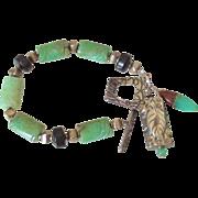 Chrysoprase Charm Bracelet by Pilula Jula 'Tempted I'