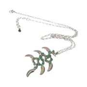 Genuine Emerald Necklace by Pilula Jula 'June Bugs'