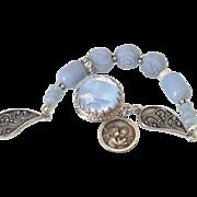 Blue Angelite Charm Bracelet by Pilula Jula 'Opinions'