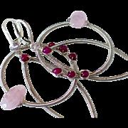 Ruby & Morganite Original Medallion Earrings by Pilula Jula 'Demolition Love II'