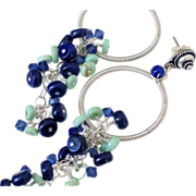 Lapis & Turquoise Earrings by Pilula Jula 'Fast Forward'