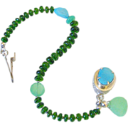 Sleeping Beauty Turquoise Chrome Diopside & Chrysoprase Bracelet by Pilula Jula 'Solid Ground II'