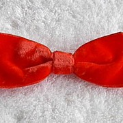 1960s Vintage Red Velvet Hair Bow