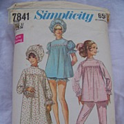1968 Simplicity Pattern 7841