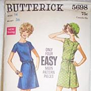 Vintage Butterick Pattern 5698 - Misses' One Piece Dress