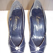 1950s Vintage High Heeled Shoes Size 7B
