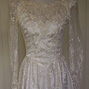 1980s Vintage Semi Formal Wedding Gown